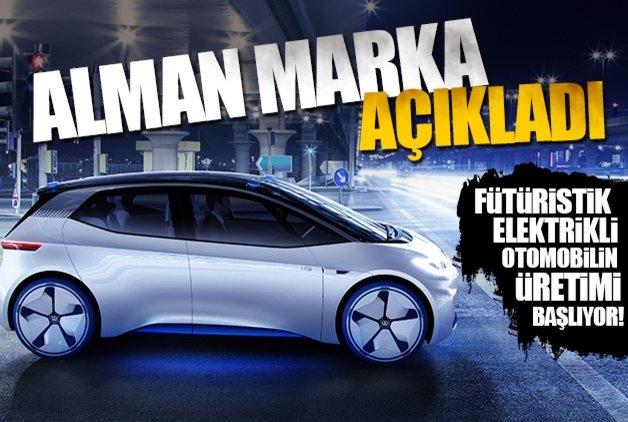 Fütüristik elektrikli otomobilin üretimi başlıyor! Alman marka açıkladı...