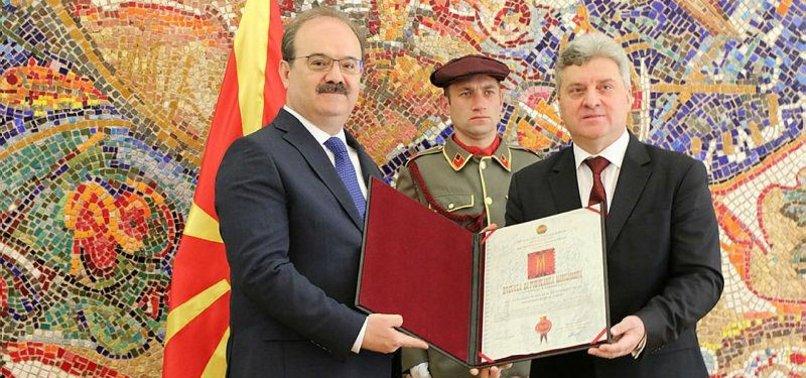 N. MACEDONIA HONORS HEAD OF TURKISH STATE AID AGENCY