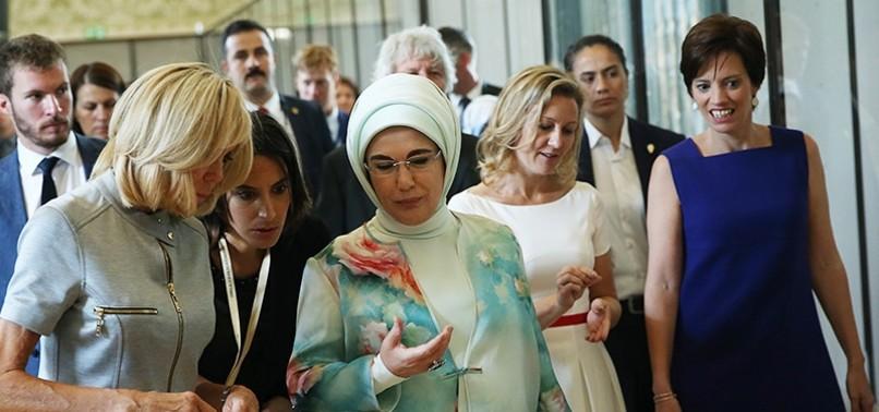 EMINE ERDOĞAN EXPLAINS ROHINGYA PLIGHT TO NATO FIRST SPOUSES