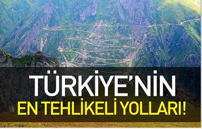 Türkiyenin en tehlikeli yolları!