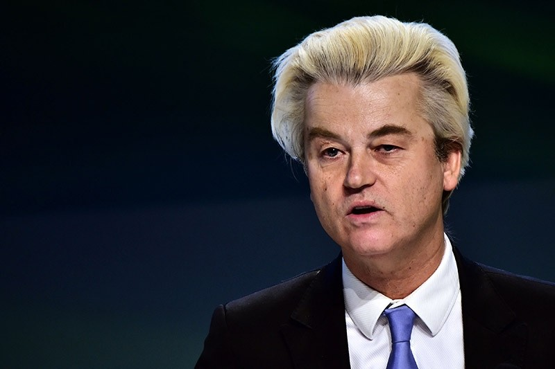 Dutch far-right Freedom Party leader Geert Wilders speaks during a press conference on January 29, 2016. (AFP Photo)