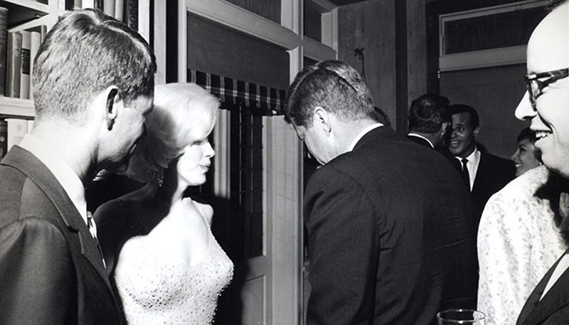 This file photo shows Marilyn Monroe with US President John F. Kennedy.