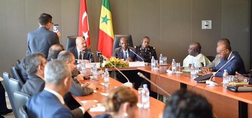 TURKISH INTERIOR MINISTER MEETS SENEGALESE PRESIDENT