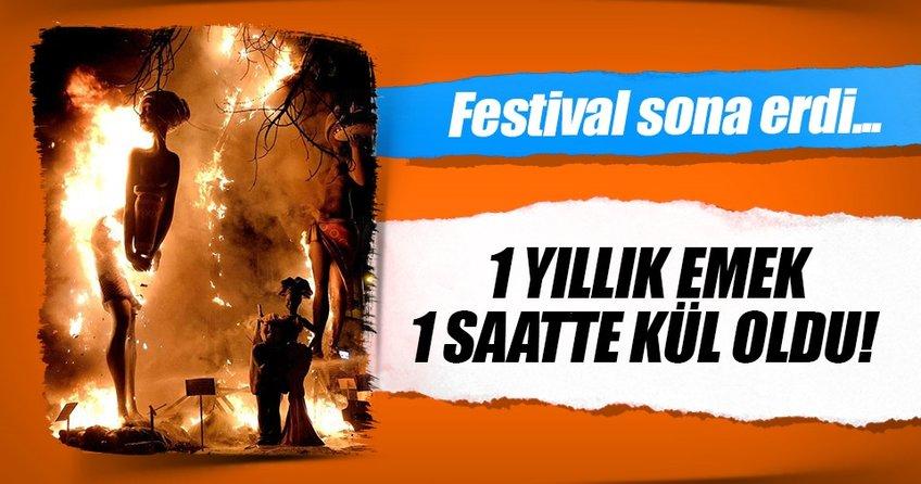 Festival dev kuklaların yakılmasıyla sona erdi