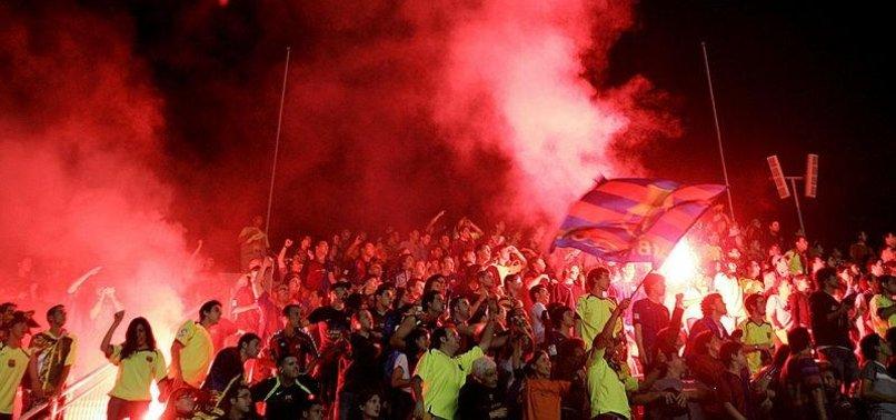 UEFA FINES BARCELONA FOR ATTACKS ON TOTTENHAM FANS