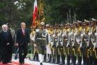 Cumhurbaşkanı Erdoğan, İran'da resmi törenle karşılandı