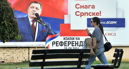 pSerbs in Bosnia headed to the polls on Sunday to decide whether to mark their national holiday, in a referendum that has placed the country's fragile institutions under pressure./p  pThe vote is...