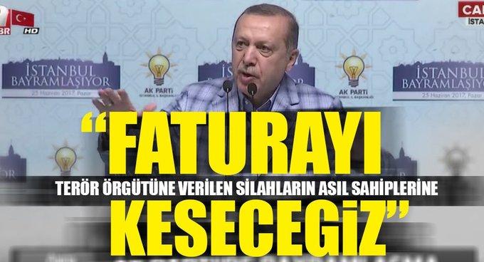 Cumhurbaşkanı Erdoğan: Terörün faturasını ellerindeki silahların sahibine çıkaracağız