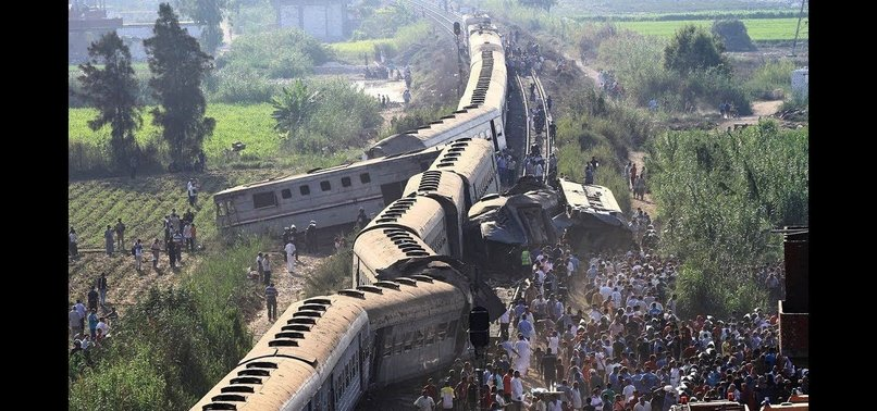 AT LEAST 55 INJURED AS TRAIN DERAILED NEAR EGYPTS GIZA
