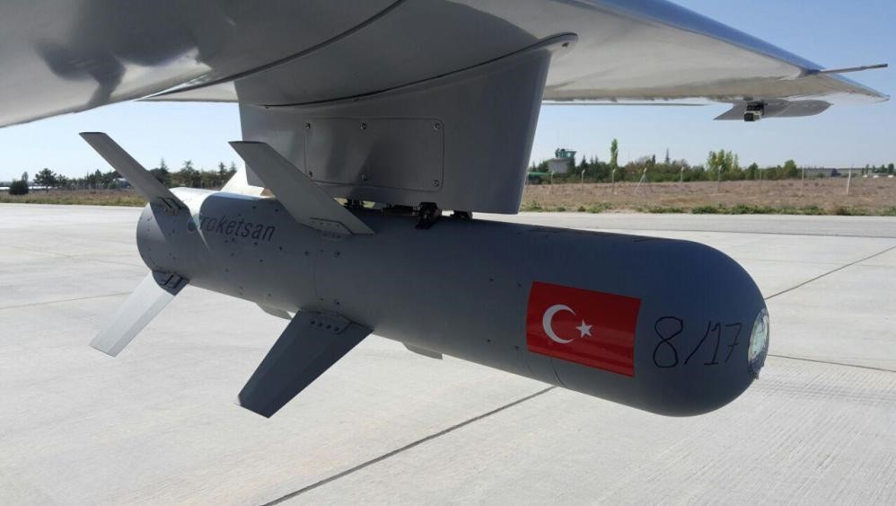 In a first, Turkish u2018Bayraktaru2019 successfully unmanned aerial vehicle hit its target with an MAM-L smart ammunition projectile manufactured in collaboration with Kale-Baykar.