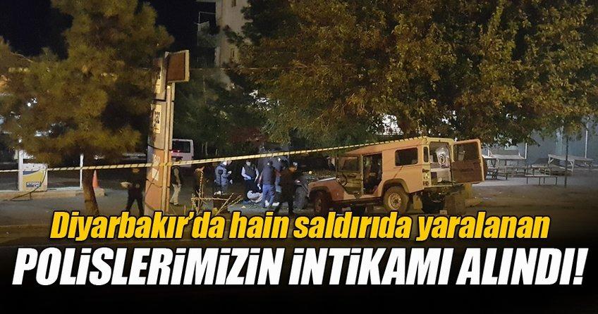 Diyarbakır'da hain saldırıda yaralanan polislerin intikamı alındı!