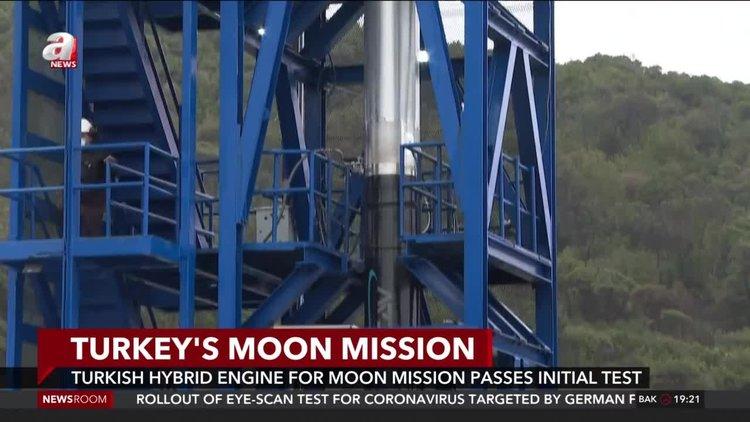 Turkey tests rocket engine for planned lunar mission