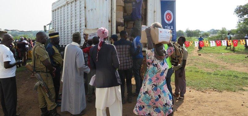 TURKISH AGENCY DELIVERS FOOD AID IN UGANDA, DJIBOUTI