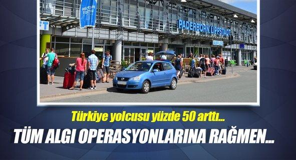 Türkiye yolcusu yüzde 50 arttı