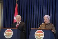 Turkey will not tolerate presence of PKK terrorists in Sinjar, PM Yıldırım reiterates during Iraq visit