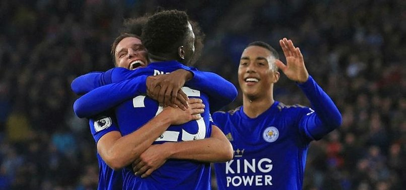 LEICESTER ROUT NEWCASTLE 5-0 TO GO 3RD IN PREMIER LEAGUE