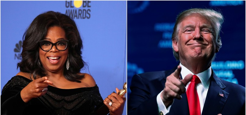 TRUMP SAYS HE WOULD BEAT OPRAH IF SHE RAN FOR PRESIDENT IN 2020