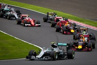 Mercedes driver Nico Rosberg capitalized on a slow start by teammate Lewis Hamilton to win the Japanese Grand Prix yesterday and widen his lead in the Formula One drivers' championship. Rosberg,...