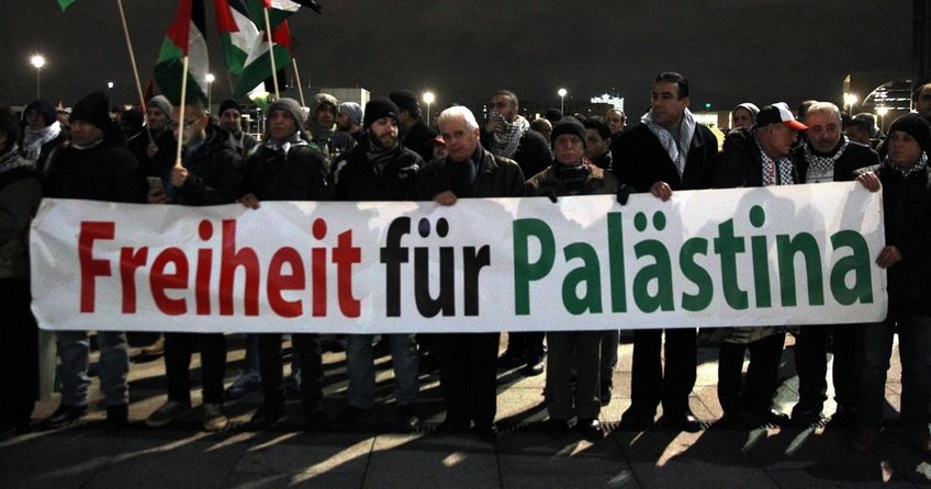 Berlin'de Kudüs protestosu