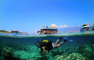 Antalya's Kaş district: A prominent location for scuba diving tourism