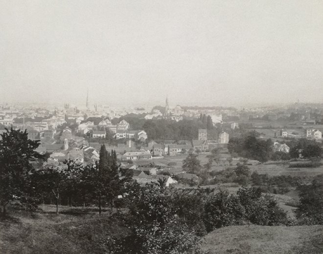 Bonn şehrinin genel manzarası