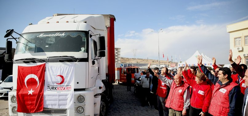TURKISH NGO SENDS OVER 42,000 TRUCKS OF AID TO SYRIA