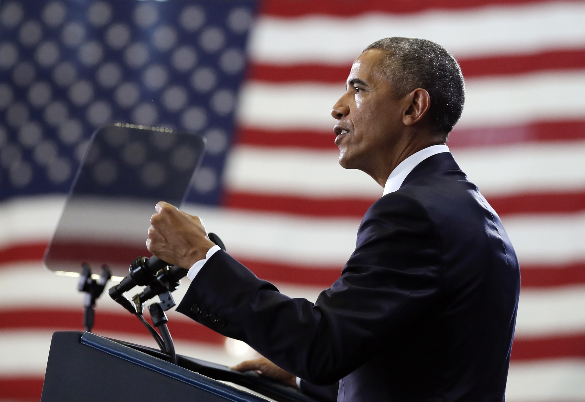 Obama speaks at MacDill Air Force Base in Tampa, Fla., Dec. 6, 2016, about the administration's approach to counterterrorism campaign. (AP Photo)