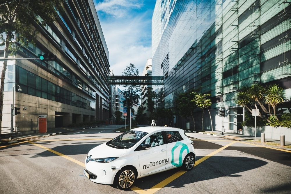 A nuTonomy self-driving vehicle pictured in Singapore. In a first in the world, NuTonomy officially launched their diverless taxis in Singapore, allowing selected passengers to use a smartphone app to order a car.