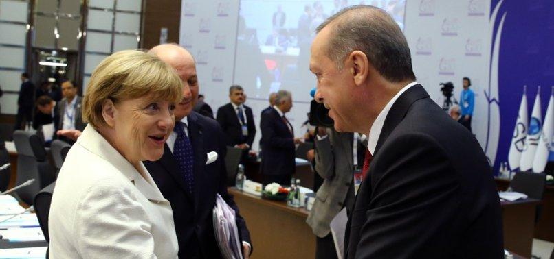 GERMAN CHANCELLOR MERKEL STRESSES IMPORTANCE OF STRATEGIC TIES WITH TURKEY