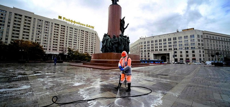 RUSSIAS DAILY CORONAVIRUS CASES HIT RECORD HIGH OF 16,319