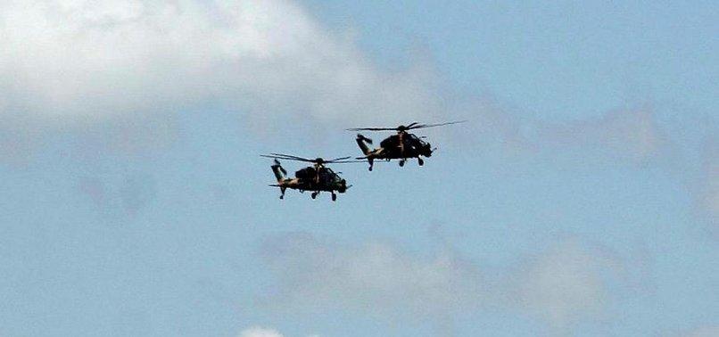 TURKEYS T-129 HELICOPTERS HIT PYD/PKK TARGETS IN AFRIN