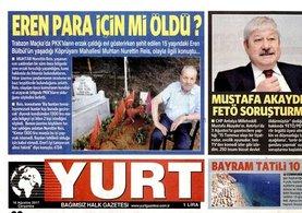 CHP'nin gazetesinden Şehit Eren için skandal manşet!