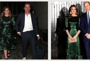 Aynı elbiseyi tercih eden Kraliyet üyeleri