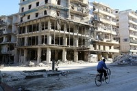 Clashes reported near Aleppo humanitarian corridor