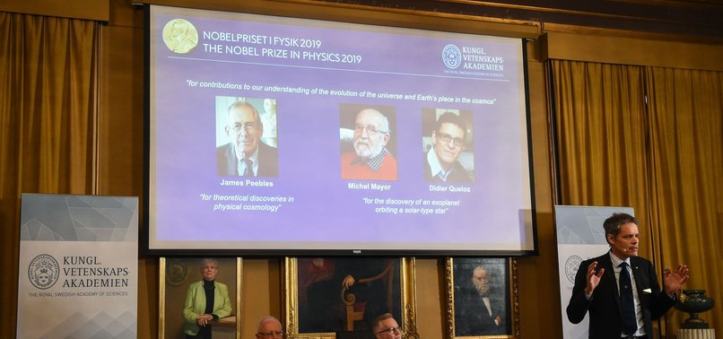 3 WIN NOBEL PRIZE IN PHYSICS FOR DISCOVERIES IN COSMOLOGY