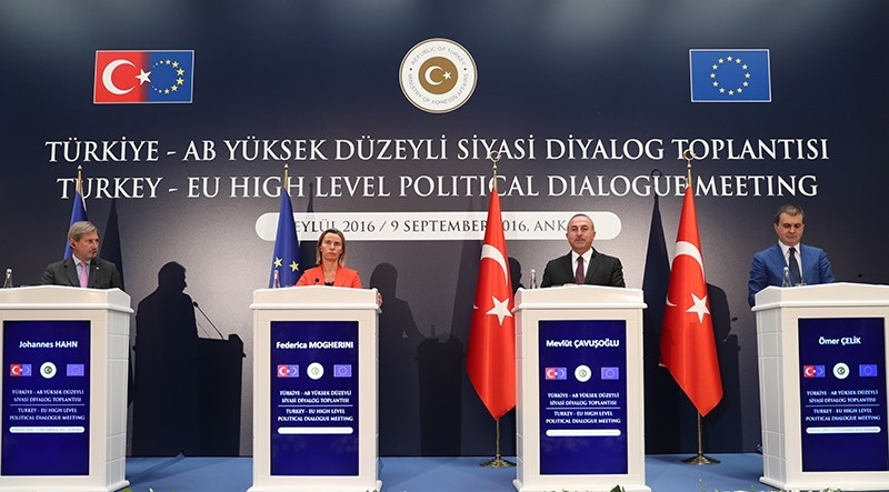 Turkey and the European Union on September 9, 2016 agreed to douse tensions that had darkened Ankara's prospects for joining the bloc in the wake of the failed July 15 coup. (AA Photo)