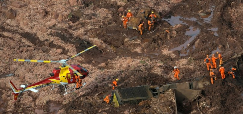AT LEAST 200 MISSING AFTER MINING DAM BURSTS IN BRAZIL