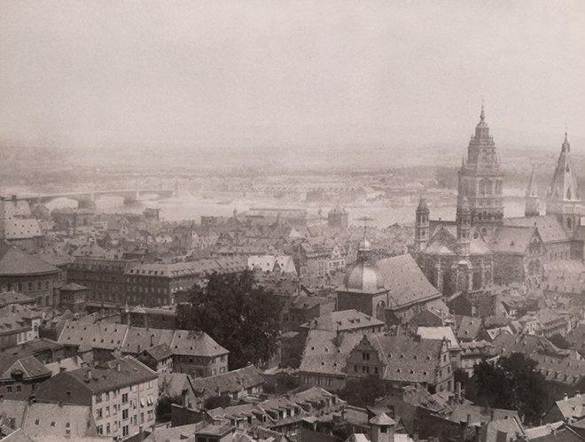 Mainz şehrinin genel görüntüsü
