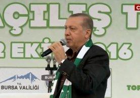 Cumhurbaşkanı Erdoğan 15 Temmuz Demokrasi Meydanı'nda