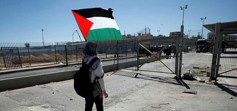 PALESTINIAN PROTESTERS CONFRONT ISRAELI ARMY IN WEST BANK