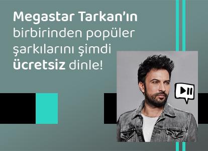 Megastar Tarkan'ın birbirinden  popüler şarkılarını şimdi ücretsiz dinle!