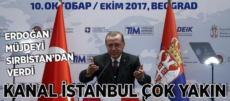 Cumhurbaşkanı Erdoğan Kanal İstanbul müjdesini verdi