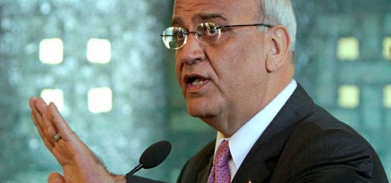 PLO'S EREKAT URGES INT'L PROTECTION FOR PALESTINIANS