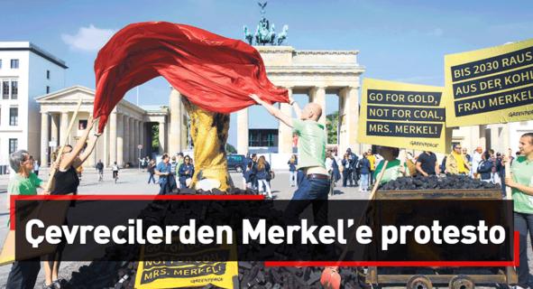 Çevrecilerden Merkel'e protesto