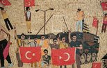 Syrian artist depicts bloody July 15 coup attempt in a mosaic
