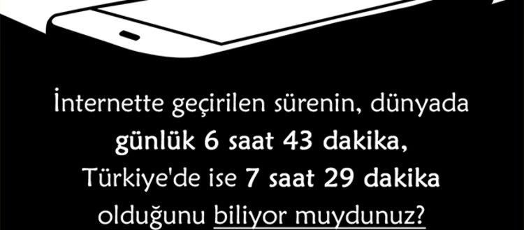 Rakamlarla Türkiye ve dünyada internette geçirilen...