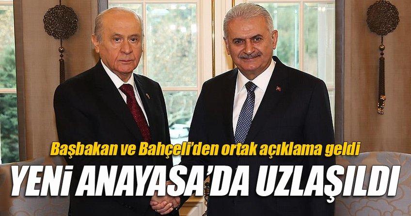 Başbakan ve Bahçeli'den ortak açıklama!