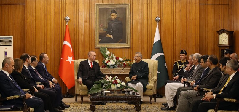 PAKISTANI PRESIDENT ALVI HOSTS RECEPTION IN HONOR OF TURKEYS ERDOĞAN
