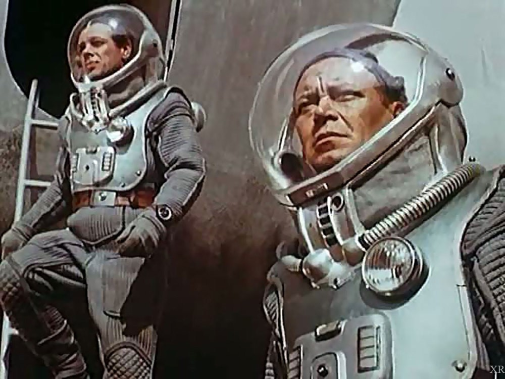 A scene from the 1962 Russian sci-fi movie  u201cPlaneta Buru201d (Planet of the Storms) directed  by Pavel Klushantsev.