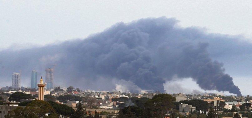 LIBYA ARMY SHELLS HAFTARS MILITIAS AT TRIPOLI AIRPORT